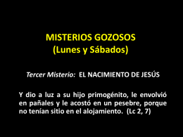 Misterios GOZOSOS (Lunes y Sábados)