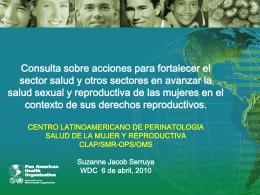 Salud Sexual y Reproductiva, Materna