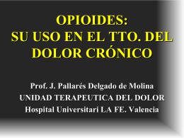 Opioides: su uso en el tratamiento del dolor crónico
