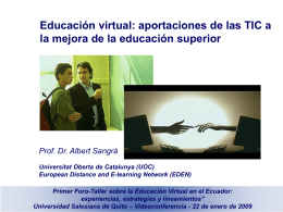E-learning - Campus Virtual EPN