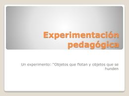 Experimentación pedagógica