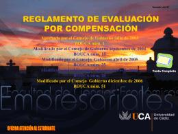 Documento de ayuda sobre Aprobado por Compensación