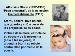 Peso Ancetral de Alfosina Stori