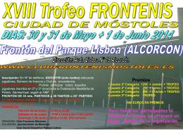 Trofeo Junio 2014 - Federacion Madrileña de Pelota