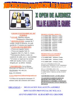 X Open de Ajedrez de la Villa de Alhaurín el Grande