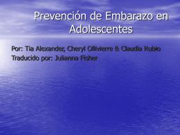 Prevención de Embarazo en Adolescentes