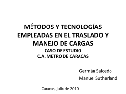 metro de caracas 1 - INGENIERIADELTRABAJO042010
