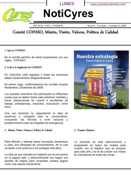 Comité COPASO, Misión, Visión, Valores