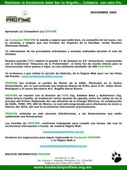 Noviembre_2009 - Fundacion Pro-FIME
