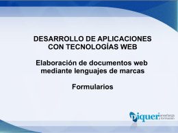 U3 – Lenguajes de Marcado Web – Formularios