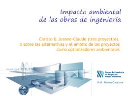 III5 v4 christo tipos proyectos - impacto ambiental de las obras de