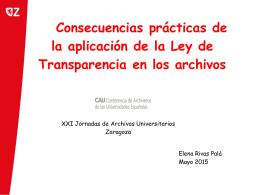 Consecuencias prácticas a la aplicación de la Ley de Transparencia