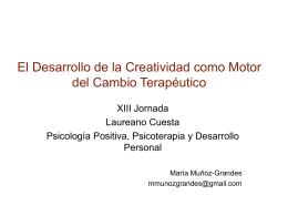 El Desarrollo de la Creatividad como Motor del Cambio Terapéutico