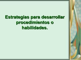 Estrategias para desarrollar procedimientos o - FMVZ-UNAM