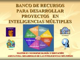 banco de recursos para desarrollar las inteligencias