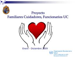 Proyecto Familiares cuidadores funcionarios UC