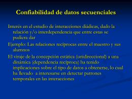 Confiabilidad de datos secuenciales