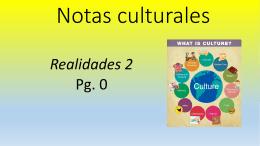 Notas culturales