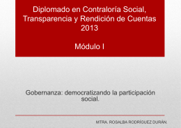 Módulo 1 - Democratizando la Participación Social