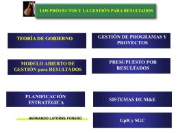 LOS PROYECTOS Y LA GESTIÓN PARA RESULTADOS