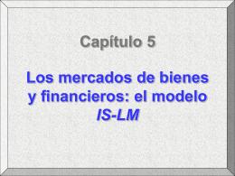 Los mercados de bienes y financieros