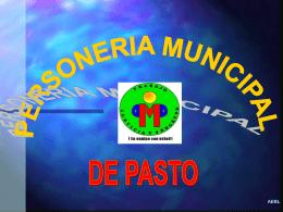 PERSONERIA MUNICIPAL DE PASTO