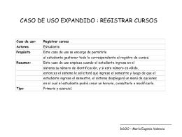 CASO EXPANDIDO DE USO: REGISTRAR CURSOS