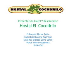 PRESENTACION HOTEL EL COCODRILO