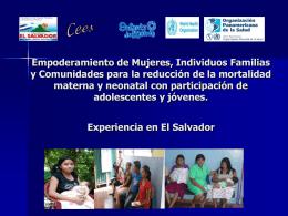 Empoderamiento de Mujeres, Individuos Familias y