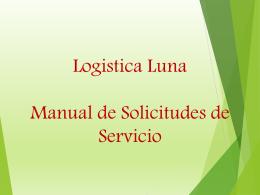 Diapositiva 1 - Logistica Luna