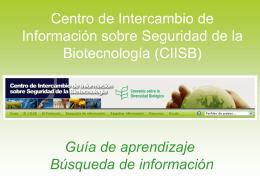 Búsqueda de información - Biosafety Clearing