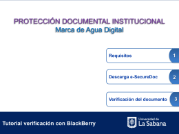 Tutorial para Blackberry - Universidad de La Sabana