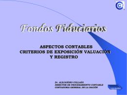 """Presentación """"Fondos Fiduciarios - Aspectos Contables"""" Cr. Collazo"""