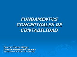 Estructura de la Contabilidad - Facultad de Ciencias Económicas
