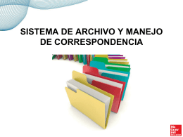 SISTEMA DE ARCHIVO Y MANEJO DE CORRESPONDENCIA