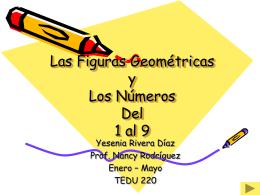 Las Figuras Geometricas y Los Números Del 1 al 5