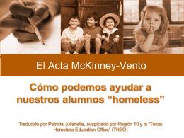 """Cómo podemos ayudar a nuestros alumnos """"homeless"""""""