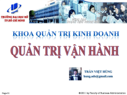 Quản trị vận hành - Trường Đại Học Mở TP. HCM