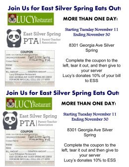 Introducing… East Silver Spring Eats Out!