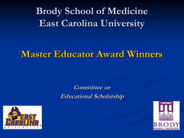 BSOM Master Educator Award Winners