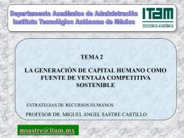 Generación de Capital Humano