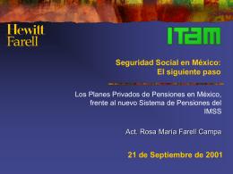 Los Planes Privados de Pensiones en México, frente al nuevo