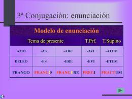 Conjugación 3ª - IES Fuente de la Peña