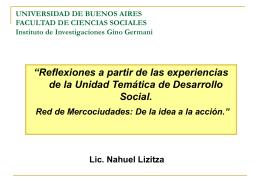 ver + - Facultad de Ciencias Sociales - UBA