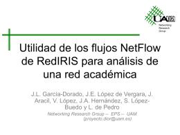 Utilidad de los flujos NetFlow de RedIRIS para análisis de una red
