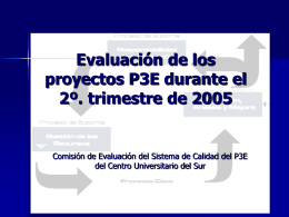 Presentación de la evaluación 2o. periodo