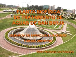 PLANTA BIOFÍSICA DE TRATAMIENTO DE AGUAS DE SAN B0RJA