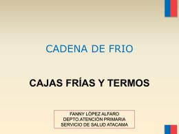 cadena de frio 2012 TERMOS Y CAJAS FRÍAS FANNY copiapo