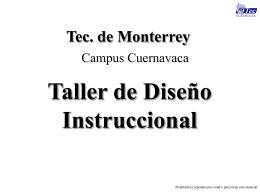 Taller de Diseño Instruccional Dr. Alberto Gastelúm