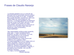 Autores_frases de claudio naranjo